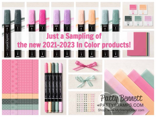 Stampin' Up! In Colors for 2021-2023. Buy Stampin' Up! online with Patty Bennett www.PattyStamps.com