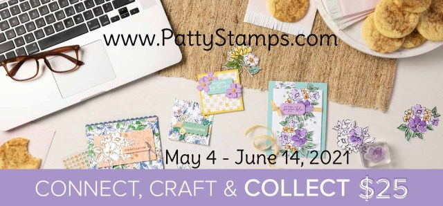 Enjoy an extra $25 free from Stampin' Up! on your host rewards when your order is $250 or more!  May 4 to June 14, 2021. Shop with Patty Bennett online www.PattyStamps.com