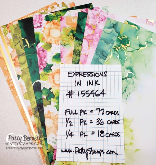 Make up to 72 cards with the Expressions in Ink designer paper pack!! #155464 www.PattyStamps.com