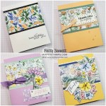4 Hand-Penned Card designs by Patty Bennett www.PattyStamps.com Luv 2 Stamp Group Blog Hop May 2021
