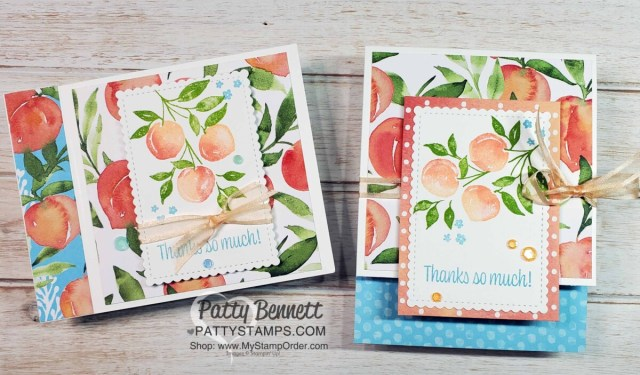 Sweet as a Peach Stampin' Up! card ideas by Patty Bennett www.PattyStamps.com