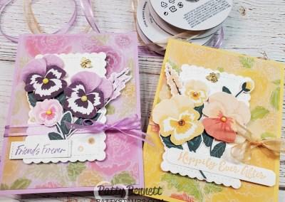 Pansy Petals Designer Paper Card Ideas with Vellum