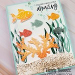 Seascape Bundle from Stampin Up You Are Amazing card idea with coral and fish die cuts from Sea Life dies. www.PattyStamps.com