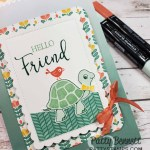 Turtle Friends stamp set and punch gift bag idea featuring Stampin