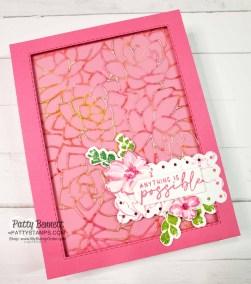 Potted Succulent Die Card Idea