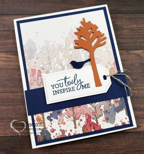Quick and Easy cards featuring Stampin' Up! Beauty of the Earth paper and Beautiful Trees dies
