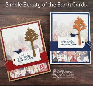 Quick and Easy Beauty of the Earth Cards