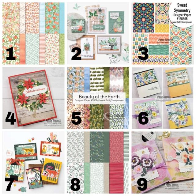 Stampin' Up! Designer Series Paper Sale July 1 to Aug. 2, 2021 shop www.PattyStamps.com