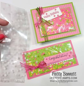 Faux Shaker Cards with Printed Gusseted Bags
