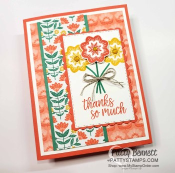 Sweet Symmetry Flower Card Idea