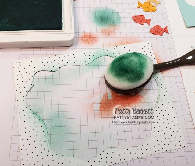 Use Stampin' UP! Blending Brushes to add color to the Layering Diorama Dies.