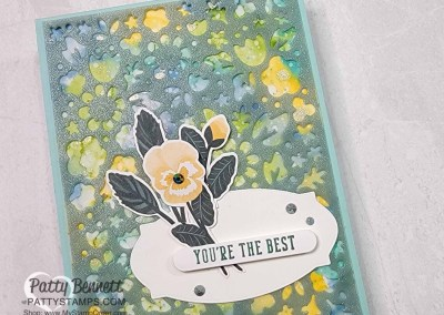 Shimmer Vellum Card with Pansy Petals Paper