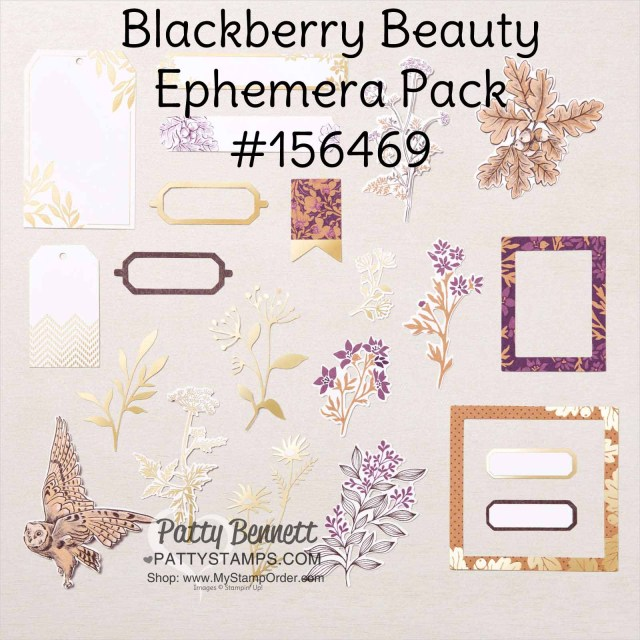 Stampin' UP! Blackberry Beauty Ephemera pack #156469! by Patty Bennett www.PattyStamps.com