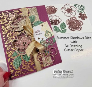 How to Color Be Dazzling Glimmer Paper with Spritzers