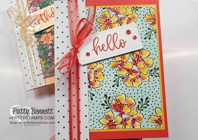 Coloring Beautifully Penned paper with Stampin' Blends