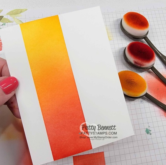 Ink Blending tips with Stampin' Up! Blending Brushes Video tutorial by Patty Bennett
