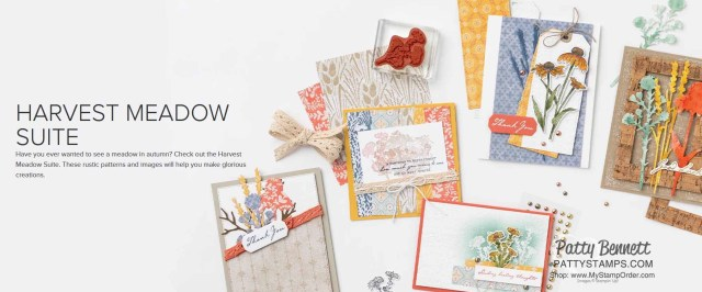 Harvest Meadow Suite from Stampin' Up!: papercrafting supplies for fall, floral and nature cards and more.