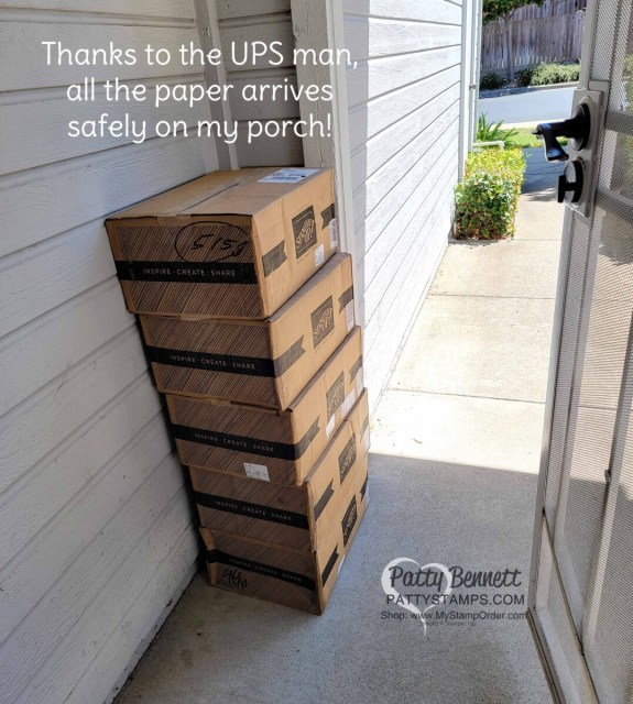 How to do a Paper Share, step 4:  order and receive all the paper - UPS delivery on my porch.