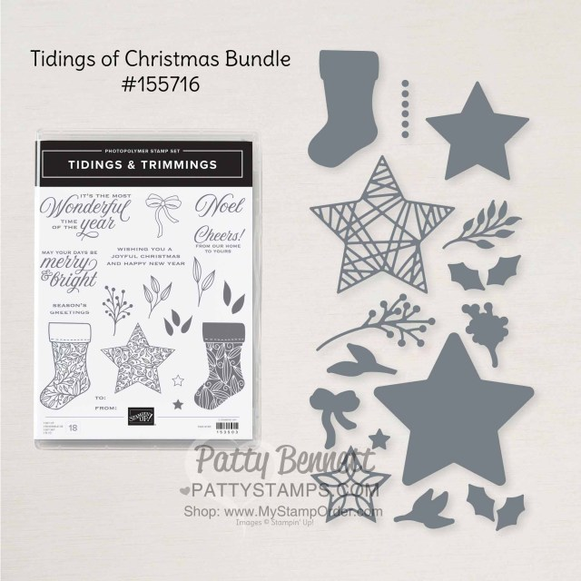 155716 Tidings of Christmas bundle Stampin' Up! papercrafting supplies www.PattyStamps.com