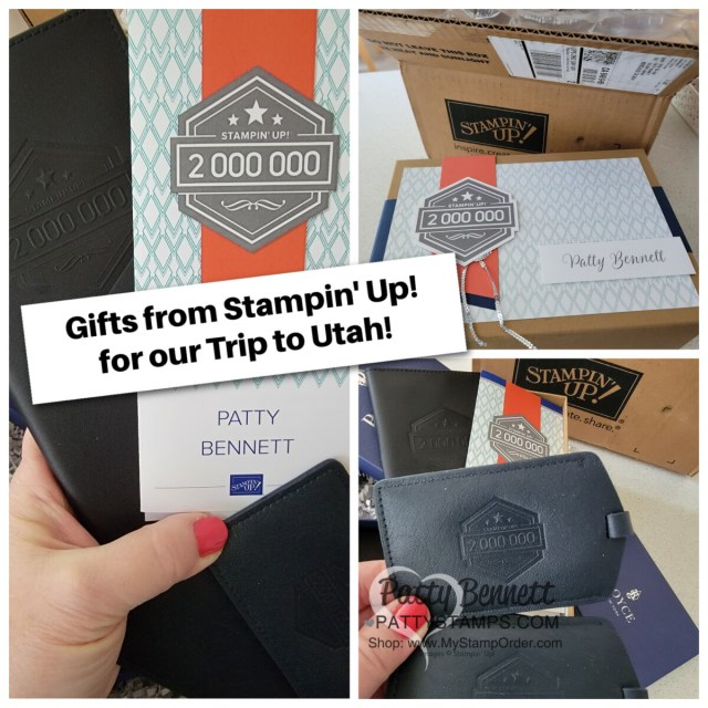 Luggage Tags gifts for my 2 million dollar sales milestone trip to Stampin' Up!, Riverton UT