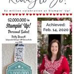Patty Bennett $2 million personal sales celebration trip to Stampin