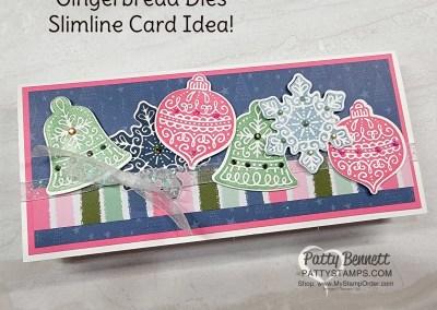 Slimline Christmas Card Idea