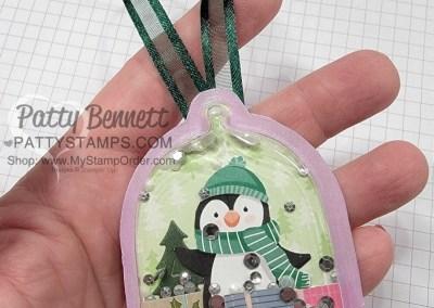 Penguin Cloche Dome Christmas Tree Ornament