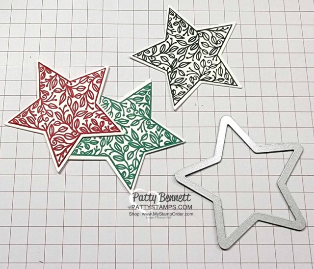 Stampin' Up! Tidings and Trimmings bundle die cut stars. www.PattyStamps.com