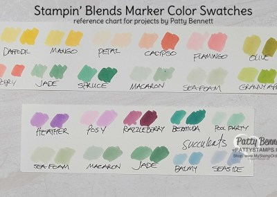 By Request: My Stampin' Blends Marker Swatch Cards