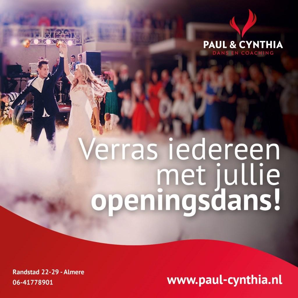 Paul en Cynthia openingsdans