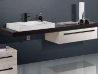Design Waschplatz mit Waschtischplatte und ...