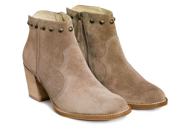 Women' Ankle Boots Brown With Studs - Paul Green
