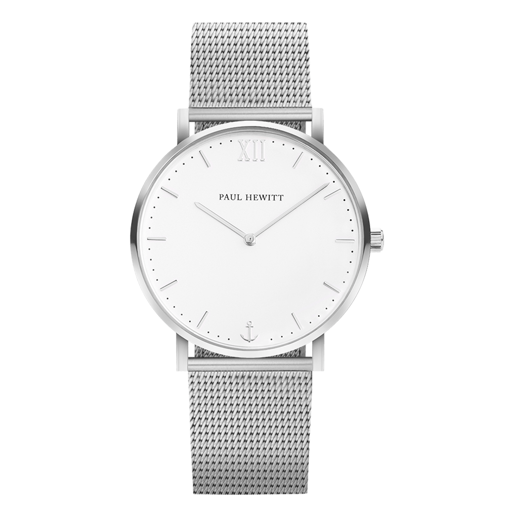 Watch Sailor Line White Sand Stainless Steel Mesh Strap
