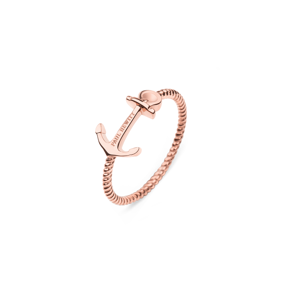 PAUL HEWITT  Ring Anchor Rope  Rosgold