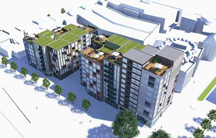 Stationsplein Enschede Paul Koster herontwikkeling hoogbouw appartementen architect enschede hengelo oldenzaal almelo haaksbergen