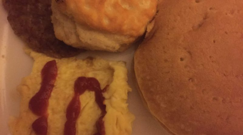Eggs and ketchup