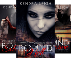 Cover Photos from The Bound Trilogy by Kendra Leigh