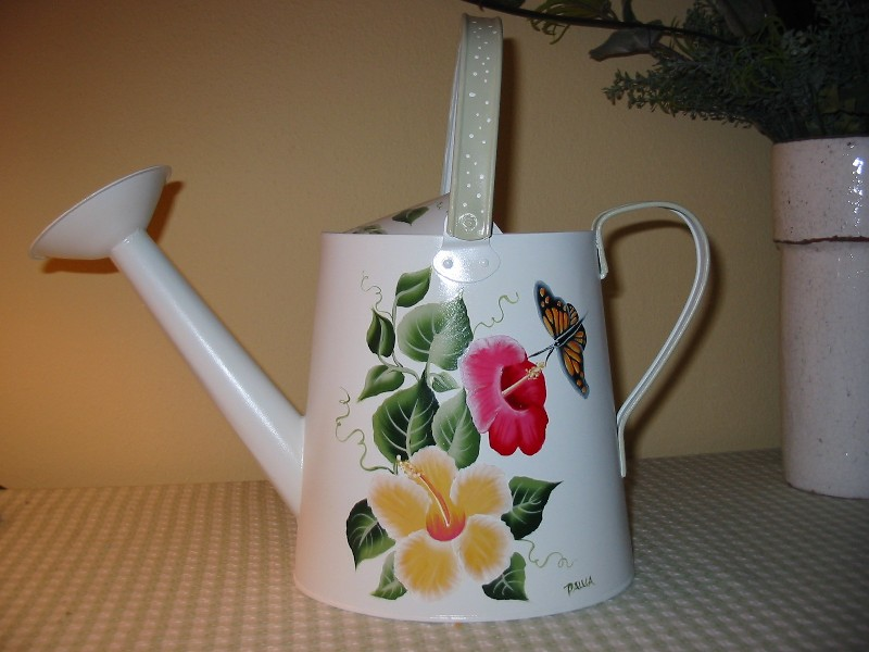 Hand Painted Watering Cans by Paulas Cottage Charm  hand