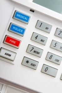 keypad for a home security system