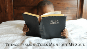3 Things Psalm 63