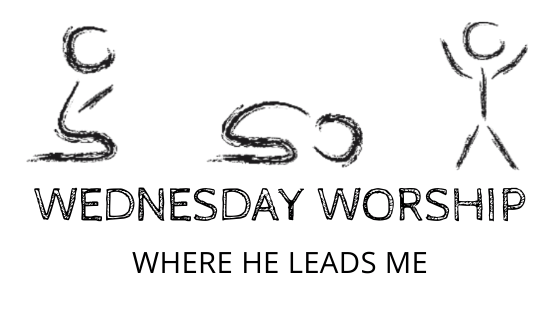 Where He Leads Me title graphic