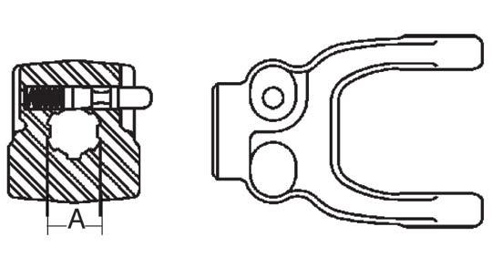 Weasler Tractor Yoke 55 Series Push Pin, 1-3/4