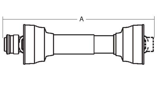 Weasler PTO Implement Yoke, Domestic 14 Series, 1-3/8