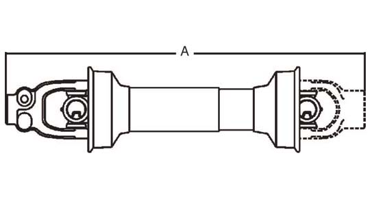 Weasler Driveline Shaft 35 Series: 1-3/8