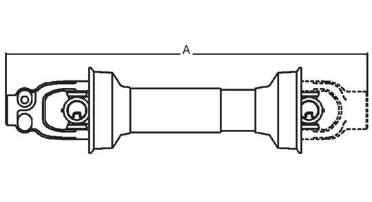 Weasler Tractor Yoke 55 Series Push Pin, 1-3/4″- 20 Spline