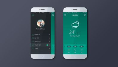 Weather app green