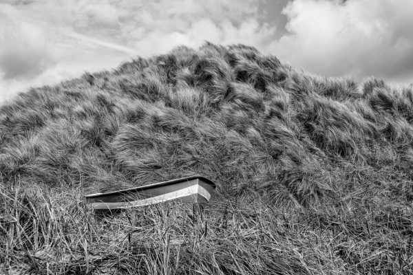 Boat in grass, Beadnell