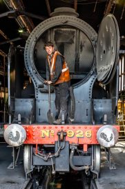 Preparing Engine 926 at Goathland (Colour)