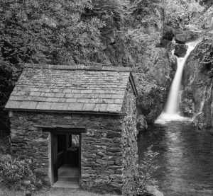 Summerhouse and Waterfall at Rydal Hall