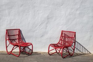 Tow red chairs
